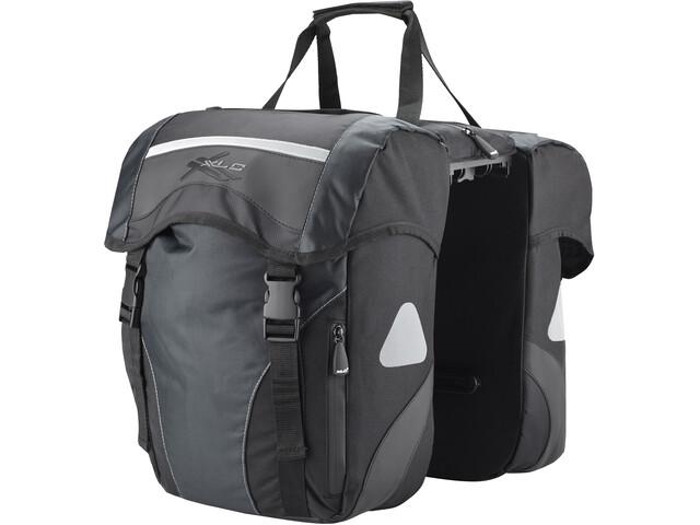 XLC Carry More Alforja Doble 30l incl. Adaptador, negro